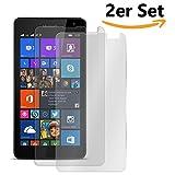 Conie SE11949 2er Set 9H Panzerfolie Kompatibel mit Microsoft Lumia 532, 2X Panzerglas Schutz Folie Anti-Öl, Anti-Finger Print Gorilla Glas für Lumia 532 Handyfolie (2 Stück) 2X Glasfolie