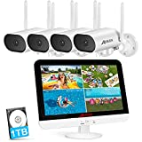 Wireless Security Camera System,ANRAN 8 Channel 2K NVR 4Pcs 3MP Home WiFi Security Camera Outdoor...