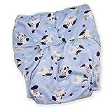 Rearz - Puppies - Adult Pocket Diaper (Minky Fabric) Blue