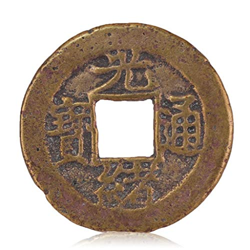 Alte chinesische Antike Münzen in der Qing-Dynastie Hoch Antike Kupfermünzen Bronzeplatten-Tongbao-Baozhan Amulett auszutreiben Böse Geister Money Drawing Reichtum Vermögen