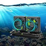 Wosune Enfriador de Pescado, Mini Ventilador de enfriamiento de Pescado, Ajustable 100-240V para Acuario de Peces(European regulations, Transl)