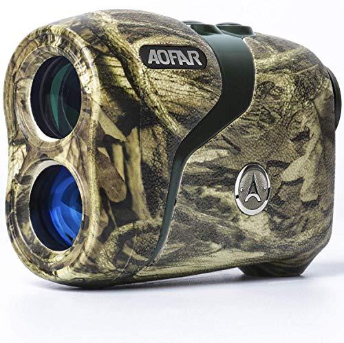 AOFAR HX-800H Entfernungsmesser Jagd 800 Meters, Wasserdichte Tarnung, für Schießen und Bogenschießen mit Winkel und horizontaler Entfernung, Entfernungs- und Bogenmodus, Geschenkpaket