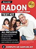 ACCURATE Radon Test Kit For Home - 2 Short Term Radon Gas Detectors Including Lab Analysis, Return Shipping, And An Expert Radon Consultation - Emailed Radon Results in 1 Week