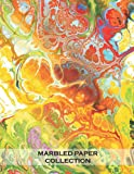 Marbled Paper Collection: 20 sheets of funky marbled papers for bookbinding and other paper crafting projects (large paper sheets for collage and paper crafting) - 8.5x11 inches 40 pages