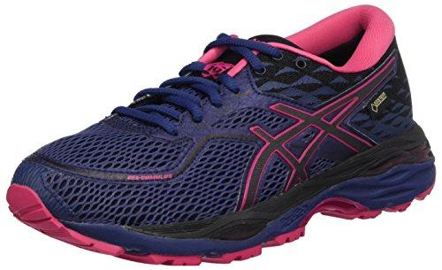 Asics Gel-Cumulus 19 G-TX, Zapatillas de Running para Mujer, Morado (Indigo Blue/Black/Cosmo Pink 4990), 37 EU