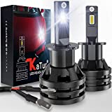 KaTur H3 Led Headlight Bulbs Mini Design Upgraded CREE Chips Extremely Bright 12000 Lumens Waterproof All-in-One LED Headlight Conversion Kit 55W 6500K Xenon White-2 Years Waranty