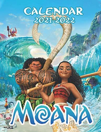 Moana: 18Months/ 2021-2022 calendar 8.5 x 11 glossy paper