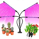 ARESAT Grow Light for Indoor Plants, Upgraded 80 LEDs Full Spectrum 10 Dimming Level & 4 Heads Grow Lamp with Timer 360°Adjustable Gooseneck for Seedling Growing Blooming Fruiting