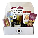 Wine Lovers Gift Box - Wine Gift Basket, Socks, Stemless Glass, Wine Snacks - Gifts for Him and Her...