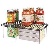 mDesign Juego de 2 accesorios para interiores de armarios de cocina – Práctica balda extensible...