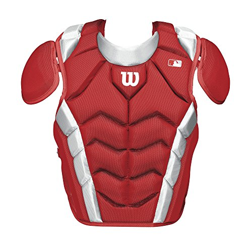 Wilson Pro Stock Chest Protector, Scarlet, 14.5