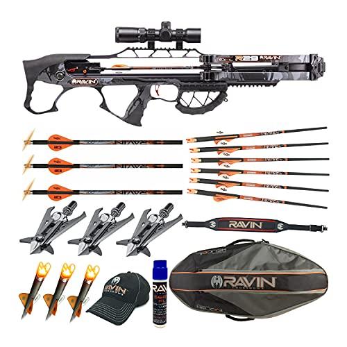 Ravin Crossbows R29 430 FPS Crossbow (Predator Camo) Enthusiast Bundle (8 Items)