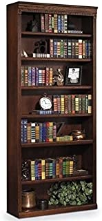 Bowery Hill 7 Shelf Bookcase in Distressed Burnish