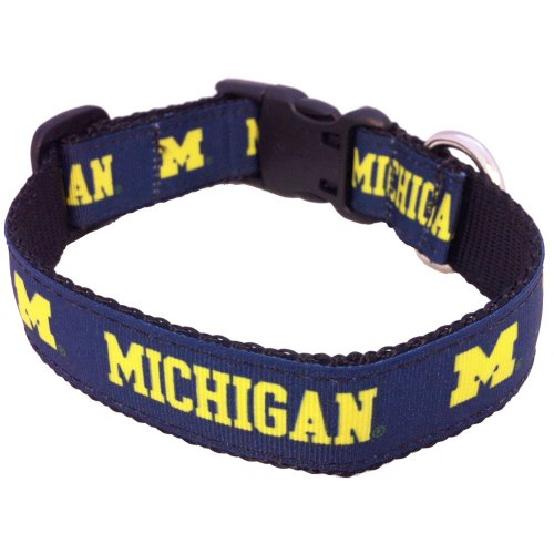 NCAA Michigan Wolverines Collegiate Dog Collar, Large