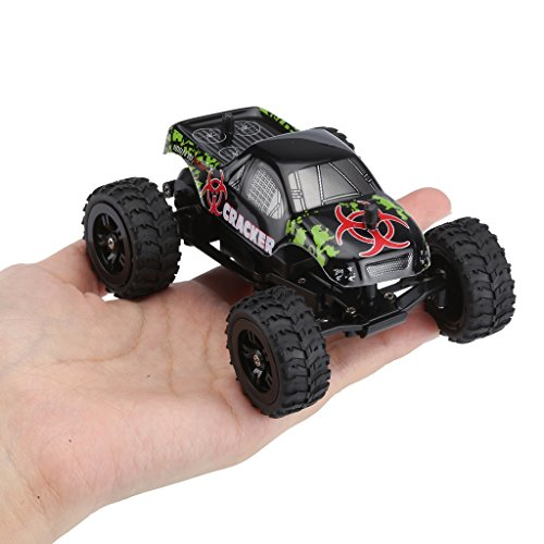 Virhuck 1/32 Scale 2WD Mini RC Truck for Kids, 2.4GHz 4CH Off-road Vehicle Rock Crawler RC Car Racing Car 12MPH Christmas Gift