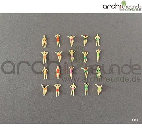 8 x Modell Schwimmer Schwimmen Figuren für Modellbau 1:100 Modelleisenbahn Spur TT