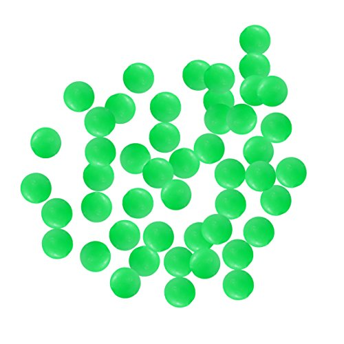 qianzhi 100pcs/Lot leuchtende Glüh Perlen Angeln Raum Perlen rund Schwimmer Kugeln Stopper leichte Bälle MeeresFischerei Angriff Locken Accessoires