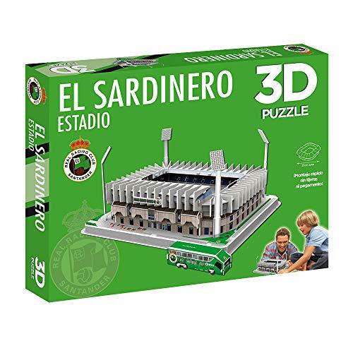 Eleven Force National Soccer Club Puzzle Estadio 3D El Sardinero (Racing S) (10797), Multicolor (1)