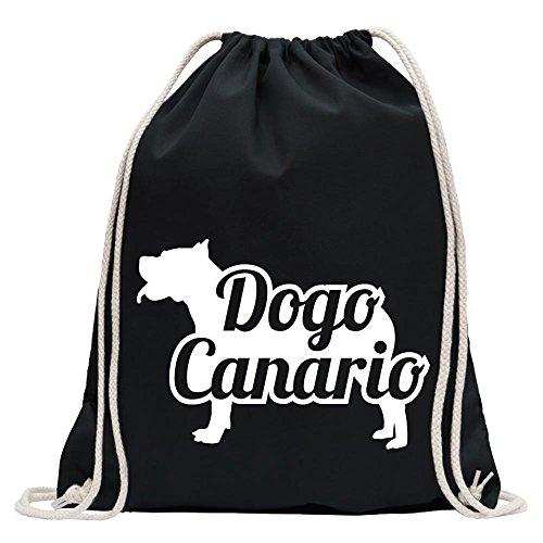 Kiwistar - Dogo Canario Hund Turnbeutel Fun Rucksack Sport Beutel Gymsack Baumwolle mit Ziehgurt