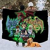 Engshi Mantas para Cama Yu-GI-Oh Fleece Blanket Throw Plush Throw Blanket Super...