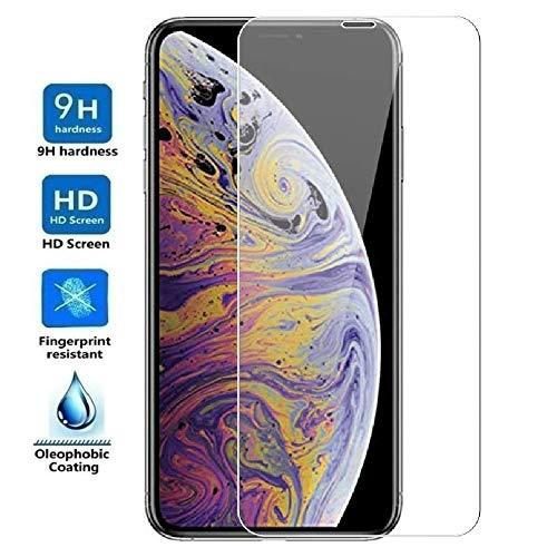 REY Protector de Pantalla Curvo para iPhone 11 - iPhone XR, Transparente, Cristal Vidrio Templado Premium, 3D / 4D / 5D