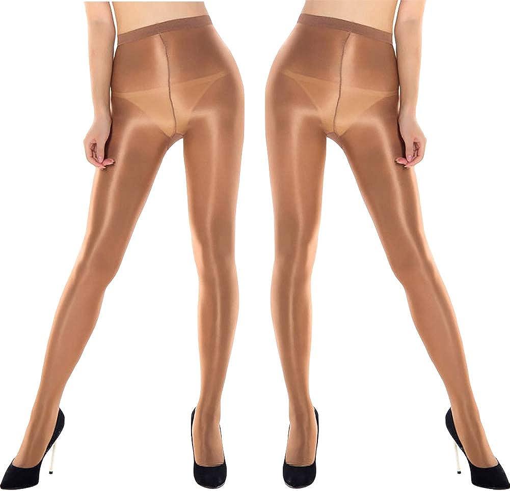 Fasbys Women Sexy Waist Hight Stockings 70D Oil Shiny Stockings Dance Pantyhose for Women
