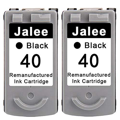 Jalee 2 Negro Cartuchos de Tinta refabricado para Usar en Lugar de Canon PG-40 Compatible para Canon PIXMA MP140 MP150 MP160 MP170 MP180 MP190 MP210 MP220 MP450 MP460 MP470 MX300 MX310 iP2500 iP2600