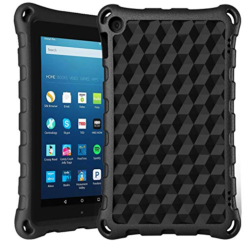 7 inch Tablet Case 2019-DiHines Kids-Proof Protective Case Cover for 7 inch Tablet (Compatible with 2019&2017&2015 Release) (Black)