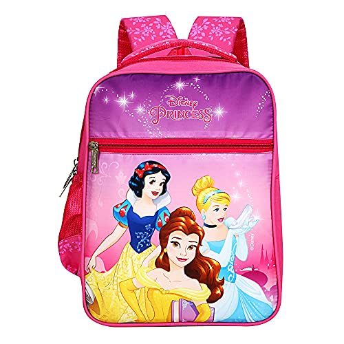 Priority Disney Princess Group 20 litres Pink Polyester Kid's School Bag   Casual Backpack for Girls (Ivory - 25157)