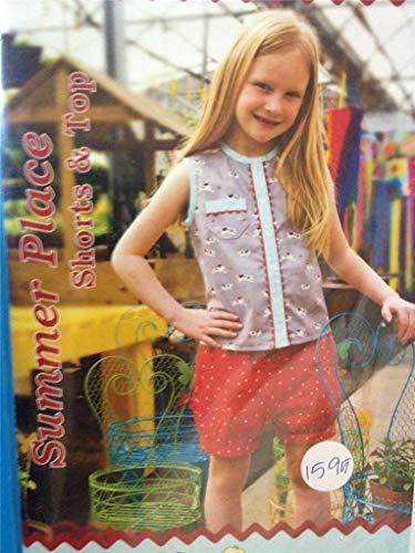 Générique Maw Bell Design Sewing Pattern 0220 Girls Shorts Top Size 3-5 Uncut