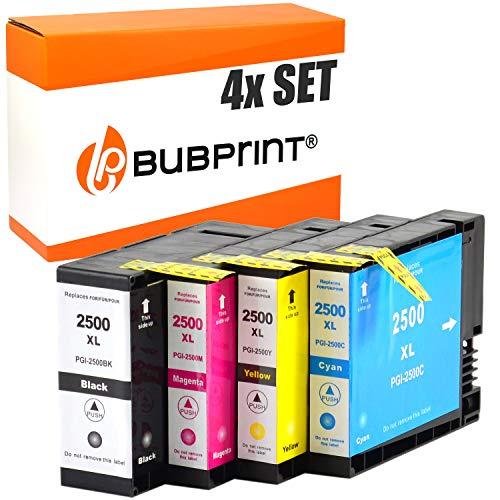 4 Bubprint Druckerpatronen kompatibel für Canon PGI-2500XL PGI-2500 XL für Maxify iB4050 iB4150 MB5000 MB5050 MB5100 MB5150 MB5155 MB5300 MB5350 MB5400 MB5450 MB5455 Multipack BK/C/M/Y