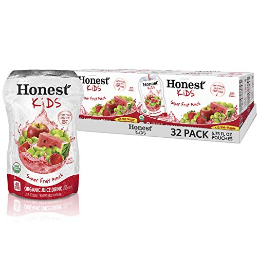 Honest Kids Super Fruit Punch Organic Fruit Juice Drink, 6.75 Fl. Oz, 32 Pack