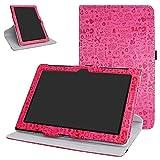 Mama Mouth ASUS ZenPad 10 Z300CG Rotante Custodia, Rotante a 360° Custodia in PU di Cuoio Pelle Caso Case per 10.1 ASUS ZenPad 10 Z300C Z300CG Z300CL Android Tablet,Magenta