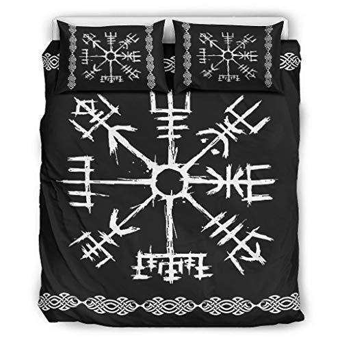 Mentmate Store Juego de ropa de cama acolchado suave y ligero – 1 funda nórdica y 2 fundas de almohada para toda la temporada blanco 229 x 229 cm