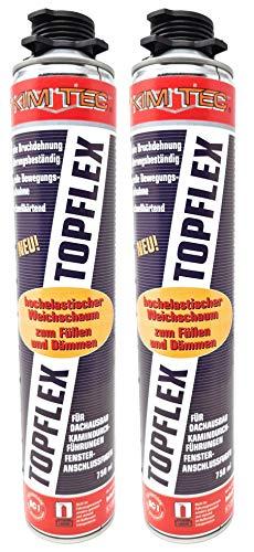 Toolzy 101668B2 2x 1k Pistolenschaum TOPFLEX Bauschaum Montageschaum Flex-Schaum Made in Germany