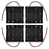 KEESIN 3.7V 18650 Caja de Soporte de Batería Caja de Almacenamiento de Batería de Plástico con Cables y Abrazaderas de Cables Autoadhesivas (4Solts × 4piezas)