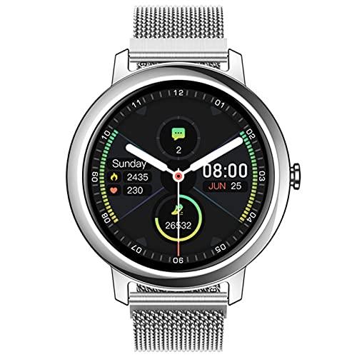 AKL Smart Watch Hombres Y Mujeres Incorporados MP3 Reproductor De Música MP3 Bluetooth Call Sport Smartwatch Smartwatch para Android iOS,C
