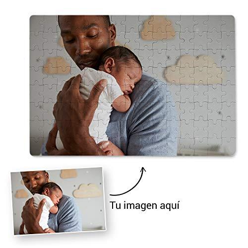 Fotoprix Puzzle Personalizado con tu Foto preferida y Texto de 60 Piezas | 5 Modelos Disponibles | Regalo Original (20x30 cms)