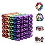 Luckyrao 6 Colores Juguete Cubo Puzzle Cubo Inteligente Twisty Cube Puzzle Fácil Giro para el Cerebro Entrenamiento Juguete para niños y Adultos (216pc 5mm)
