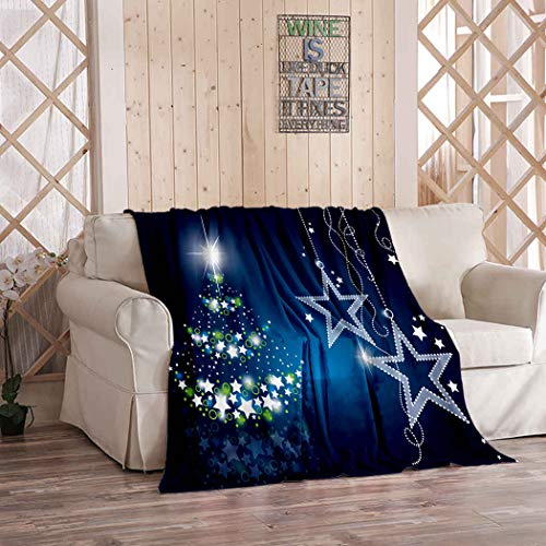 Kuidf Tree Throw Blanket Christmas Flannel Bedding Blankets Luxury Oversized for Couch Bed or Sofa 50x60 Inches