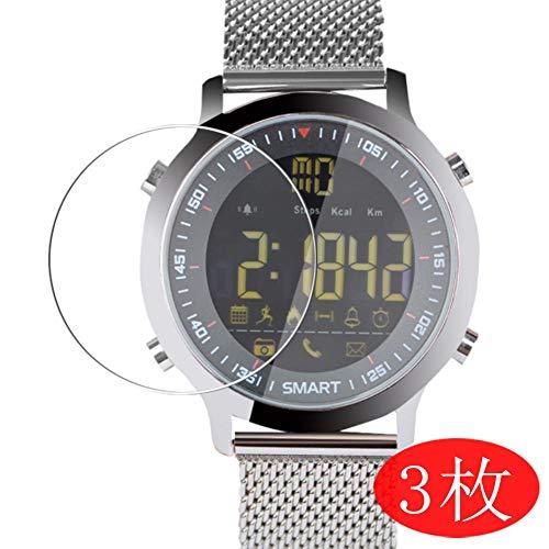 VacFun 3 Piezas HD Claro Protector de Pantalla para Smartwatch Smart Watch EX18, Screen Protector Sin Burbujas Película Protectora (Not Cristal Templado)