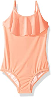 Seafolly Little Girls' Ruffle Front Tank One Piece Swimsuit with Tie Back