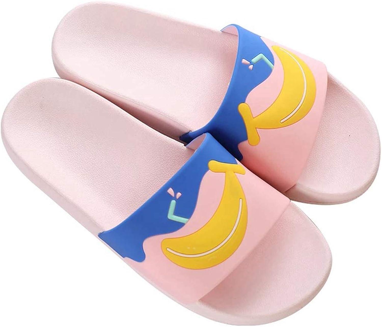 Nafanio Women Bathroom Slippers Cartoon Fruit Platform Home Flip Flops Slip-on Sandals Beach Outdoor Slides Flat shoes