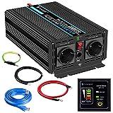 novopal-Power Inverter Onda Sinusoidale Pura 1000w Trasformatore di Potenza Convertitore- ...