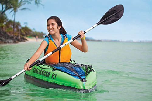 Intex Challenger K1 Kayak with Paddles and Pump Design for Easy Paddling Cockpit Design for Best Comfort and Space