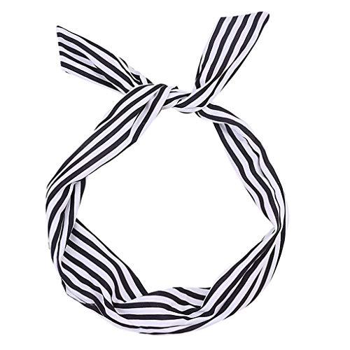Headband/Dorical Haarbänder Streifen Haarschmuck Stirnband Haarreifen, Rockabilly Accessoires für...