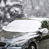 Car Windshield Winter Snow Cover Upgraded Magnetic Waterproof Windscreen UV Frost Protector4Layers X-Large Fits Cars Trucks Vans SUVs
