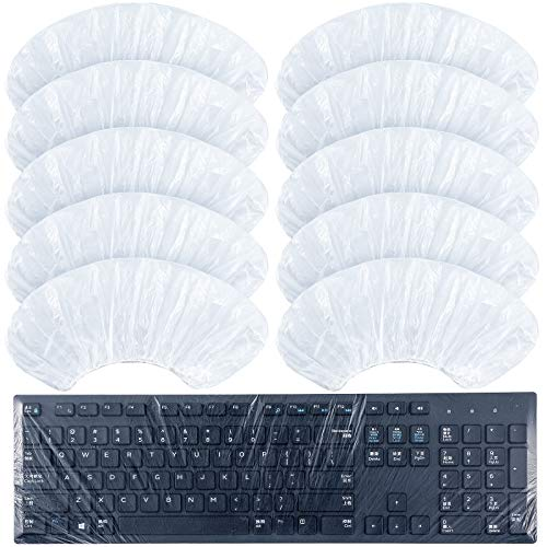30 Pieces Universal Keyboard Protector Cover Wipeable 0.025mm Disposable Keyboard Cover Fully Covered Waterproof Anti-Dust Keyboard Cover for Desktop Keyboard Barrier for Schools, Office
