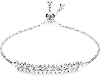AZFEIYA مجوهرات الزفاف الأنيقة زركونيا مكعب كريستال حجر الراين سلسلة سوار للنساء مجوهرات الزفاف للعروس ووصيفات العروس