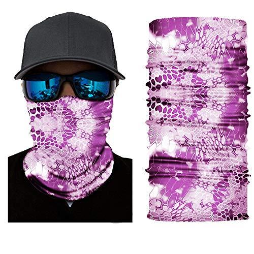 KGDUYH Beau Couvre-Chef Multifonction élastique sans Couture Bandana Bandeau Demi-Masque Visage écharpe Cou UV Protection Contre Le Soleil pour Les Femmes, Les Hommes (Color : A, Size : 50cm)